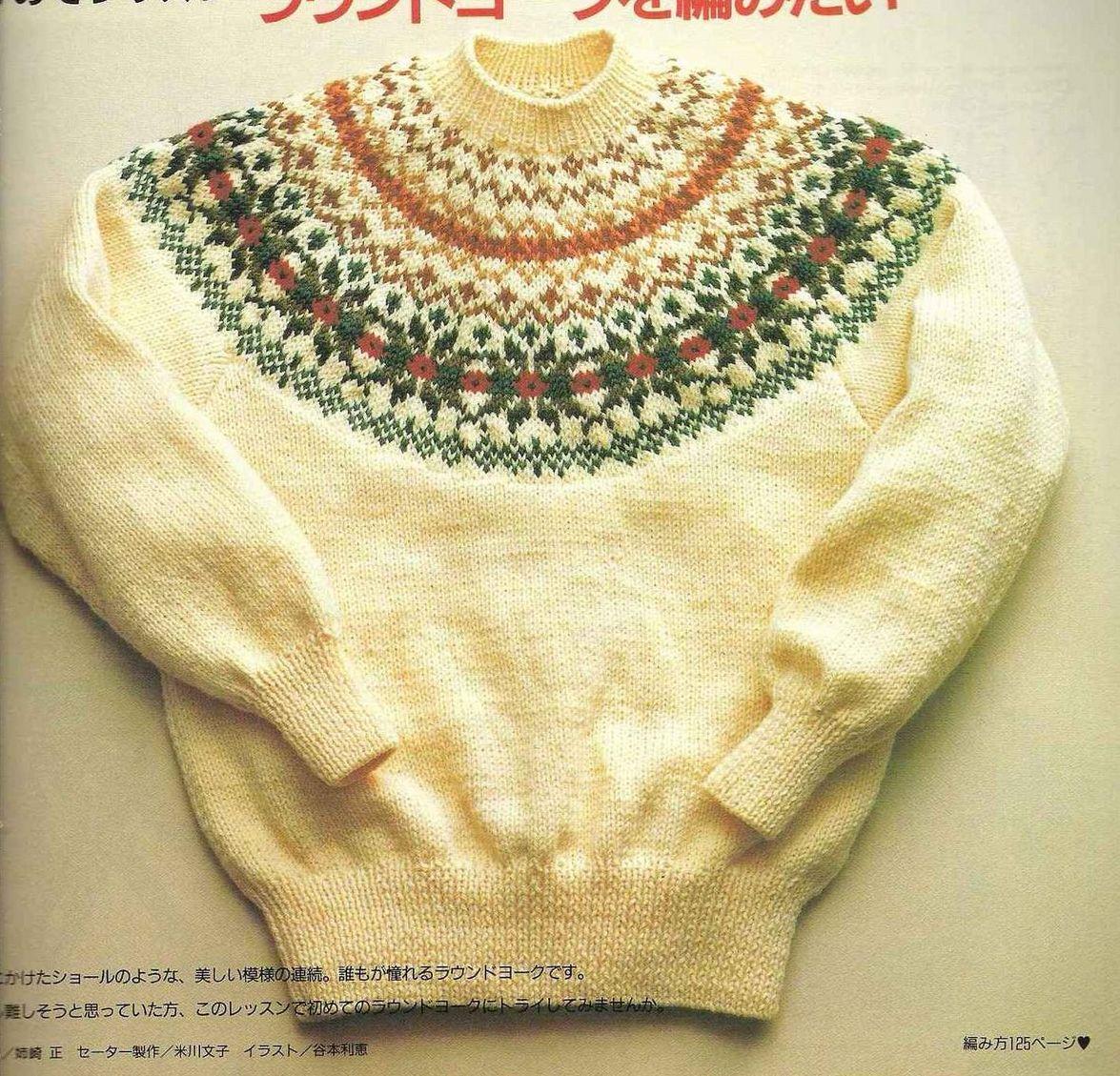 Вязание свитеров с круглой кокеткой