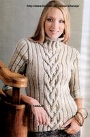 Пуловеры.  Просмотров: 2058.  Вязание для женщин.  0. Комментариев.