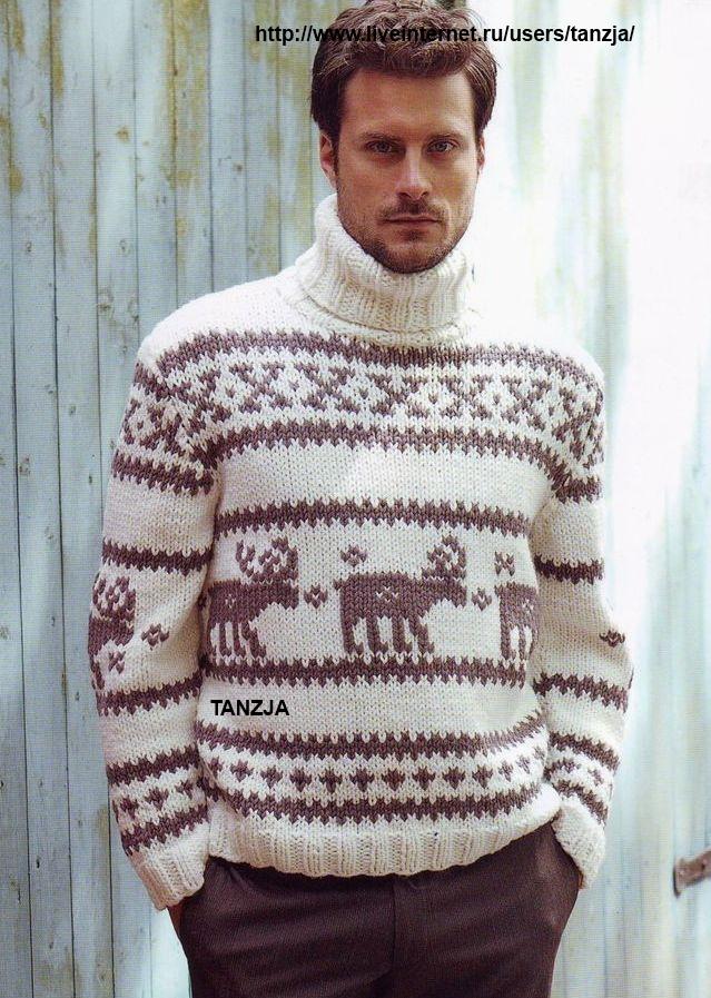 Мужские свитера с оленями,
