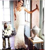 Свадебное платье связанное крючком от дизайнера Nicky Epstеin.
