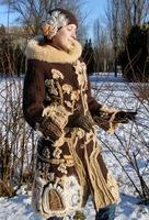 Красивая дубленка в стиле фриформ от Ружиной Юлии.Источник. jelena88С.