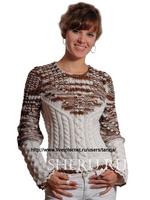 Вязание спицами - схемы и модели из категории Кофты, кофточки.  Вязаная кофта для полных женщин выполнена спицами.
