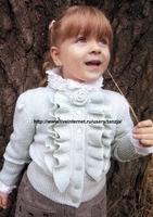 Вязание для детей.  Интересный жакет с широкой резинкой...