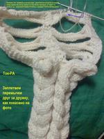 шарф вязаный с косами.