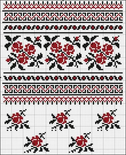 схемы вышивки цветов. вышивка