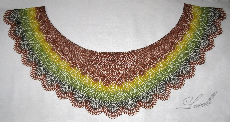 Палантины шарфы спицами 12