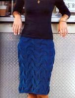 Дизайнер - Kristina McGowan.  Эту юбку вяжут на круговых спицах сверху вниз по схеме.  Жмите-картинки увеличатся!