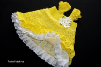 Описание: детское платье вязаное крючком Схемы.  Автор: Варвара.