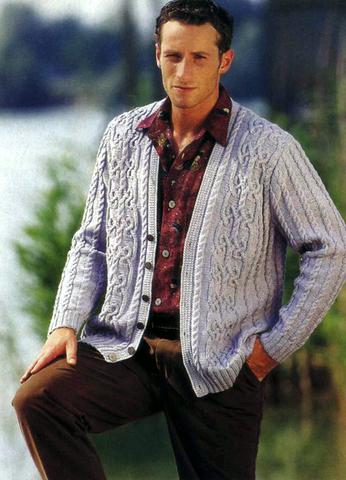 Описание: вязание крючком мужские кофты. вязанные кофты жакеты.