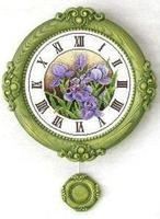 Вышивка Часы Ирисы Категория.  Растения.  Предметы обихода.