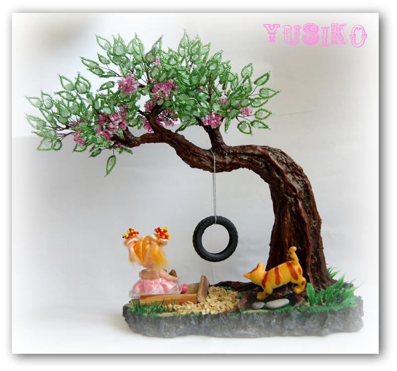 Дерево из бисера.Мастер-класс.