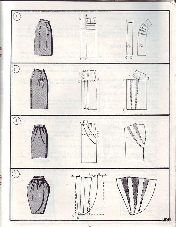 Сшить юбку тюльпан своими руками фото