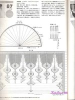 вот схема полукруглой японской шали.  Картинки увеличиваются.